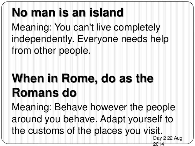 No Man Is An Island Essay
