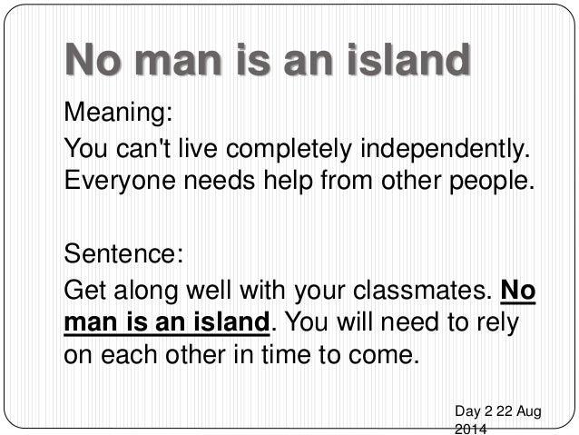 man is island essay no man is island essay