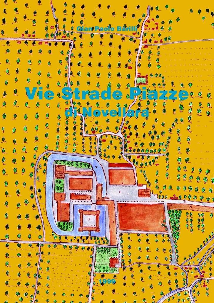 Gian Paolo Barilli     Vie Strade Piazze     di Novellara          RP     GPB     1999                      1999