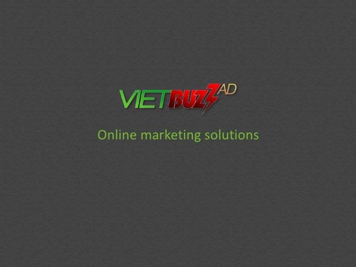 Online marketing solutions