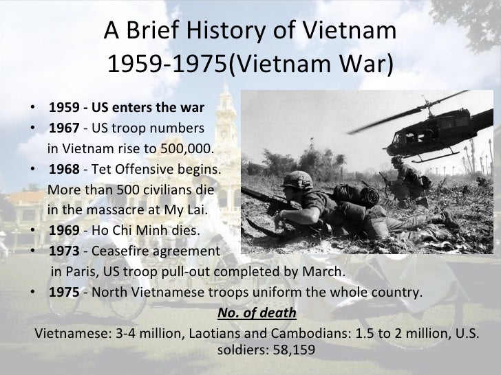a brief political history of the war in the vietnam History in an hour history for busy the vietnam war: history in an hour by neil smith is essential at the end of the book is a brief biography of the.