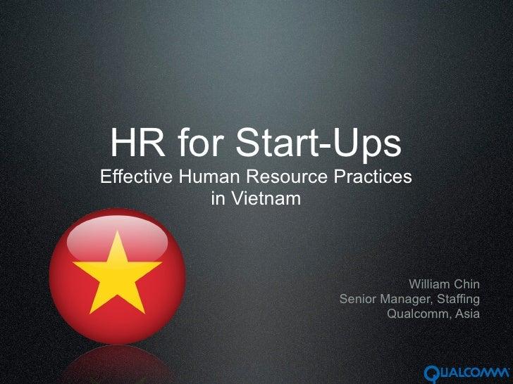 Human Resources Practices in Vietnam