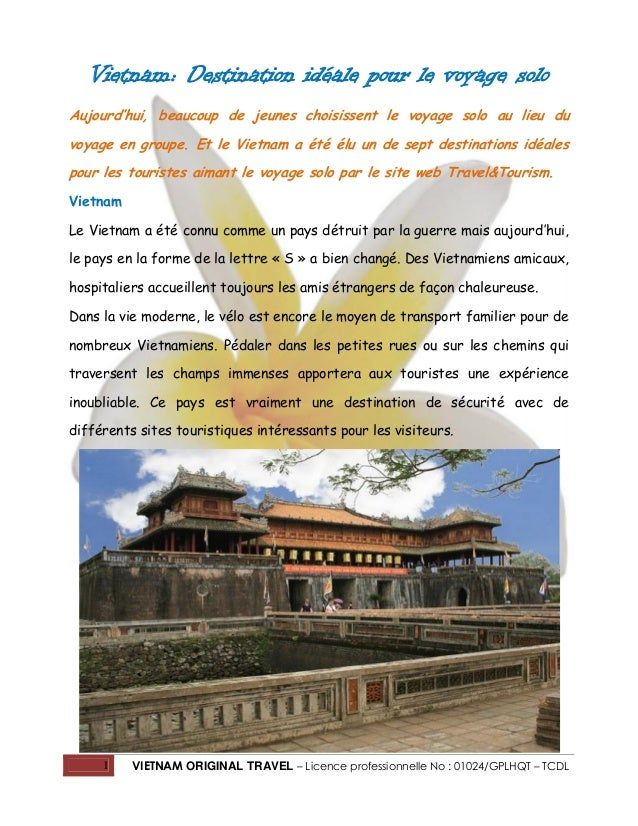 Vietnam: Destination idéale pour le voyage solo Aujourd'hui, beaucoup de jeunes choisissent le voyage solo au lieu du voya...