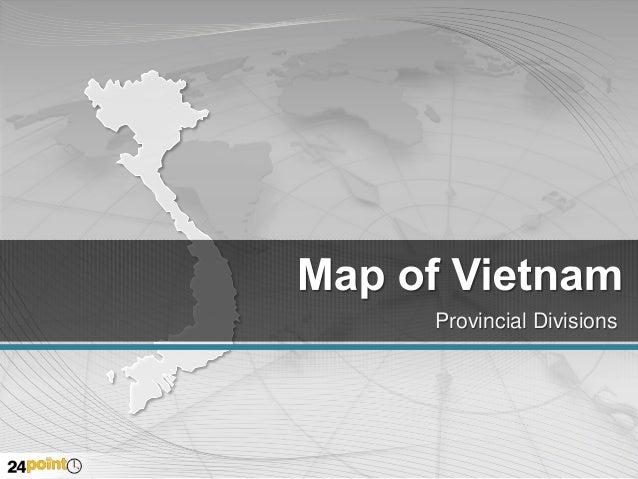 Editable PPT Map of Vietnam