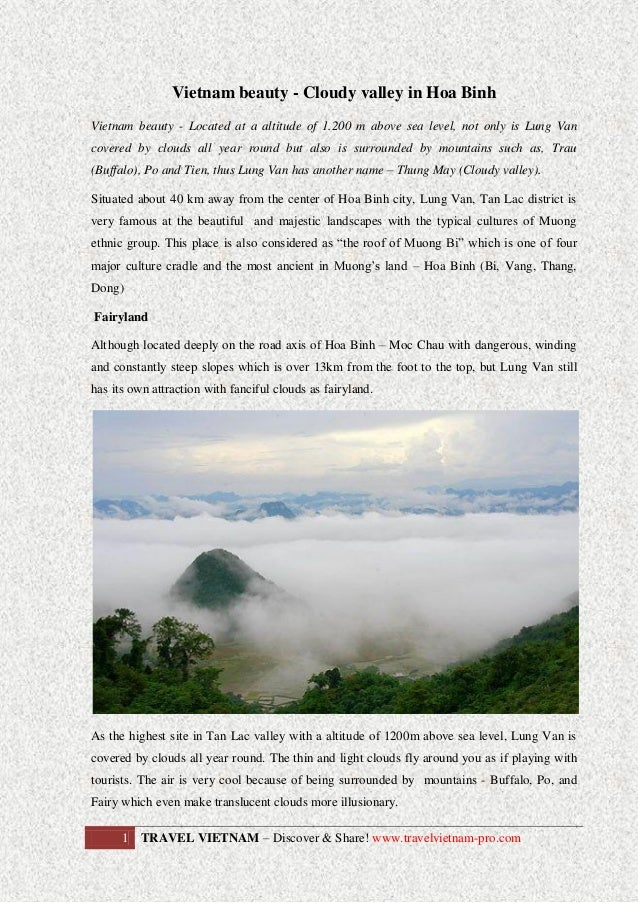 Vietnam beauty - Cloudy valley in Hoa Binh Vietnam beauty - Located at a altitude of 1.200 m above sea level, not only is ...