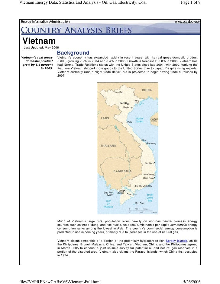 Vietnam Energy Data, Statistics and Analysis - Oil, Gas, Electricity, Coal                                    Page 1 of 9 ...