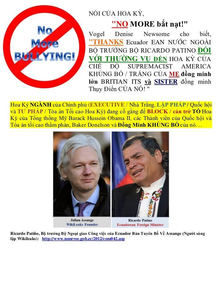 Vietnamese   thank you to  republic of ecuador (asylum of julian assange)