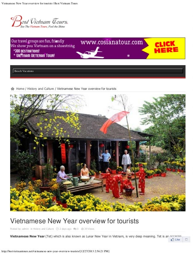 Vietnamese new year overview for tourists   best vietnam tours