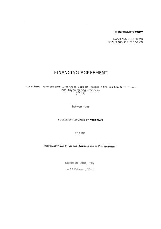 IFAD loan agreement with Vietnam