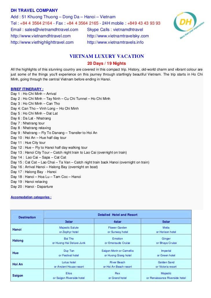 Vietnam Luxury Vacation 20 Days   19 Nights