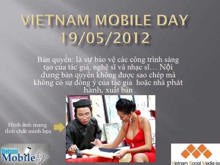 Vietnam mobile day 2012   ban quyen mobile contents - vsm