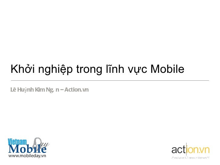 Vietnam mobile day 2012   mobile startup - action