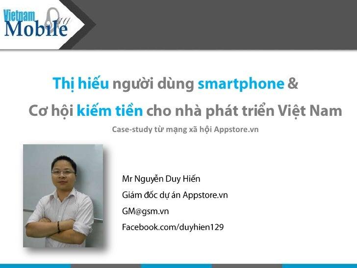 Case-study từ mạng xã hội Appstore.vn