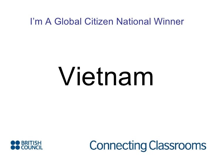 I'm A Global Citizen National Winner Vietnam