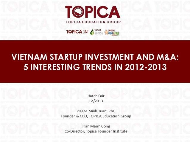 [HATCH! FAIR 2013] Vietnam Startup Investment and M&A - Mr. Pham Minh Tuan
