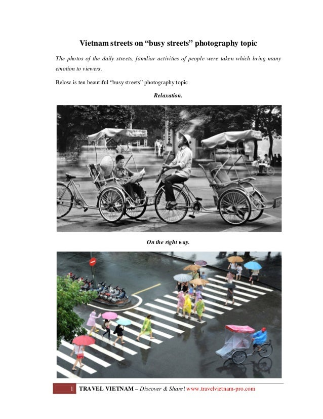 "Vietnam streets on ""busy streets"" photography topic The photos of the daily streets, familiar activities of people were ta..."