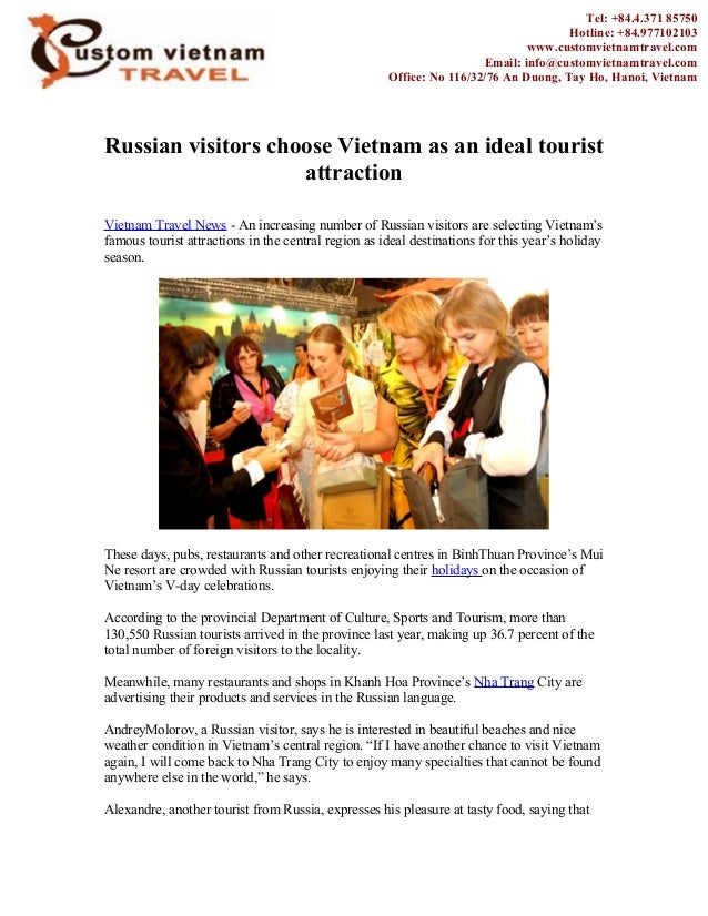 Russian visitors choose Vietnam as an ideal touristattractionVietnam Travel News - An increasing number of Russian visitor...