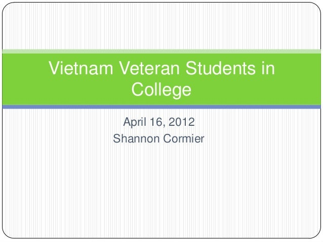 Vietnam Veterans Students in College- Key points from Research Paper