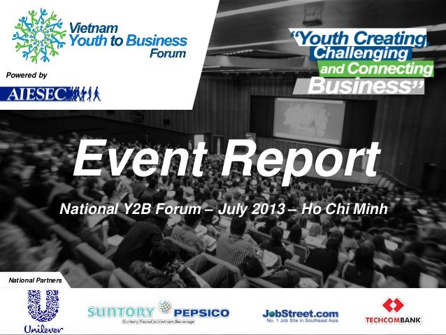 Vietnam Youth to Business Forum July 2013 Report