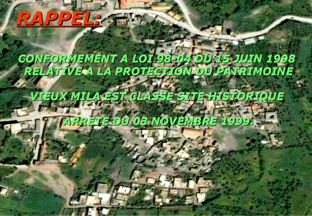 RAPPEL:RAPPEL: CONFORMEMENT A LOI 98-04 DU 15 JUIN 1998CONFORMEMENT A LOI 98-04 DU 15 JUIN 1998 RELATIVE A LA PROTECTION D...