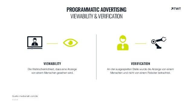 VIEWABILITY Die Wahrscheinlichkeit, dass eine Anzeige von einem Menschen gesehen wird. VERIFICATION An der ausgespielten S...