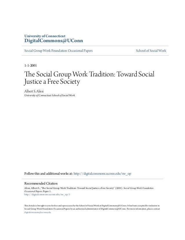 University of ConnecticutDigitalCommons@UConnSocial Group Work Foundation Occasional Papers                               ...