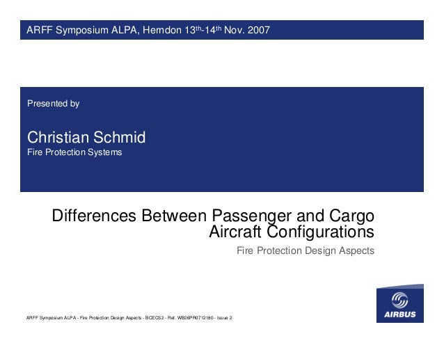 ARFF Symposium ALPA, Herndon 13th-14th Nov. 2007Presented byChristian SchmidFire Protection Systems           Differences ...
