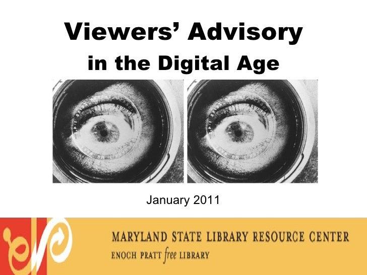 Viewers' advisory slideshow (2011)