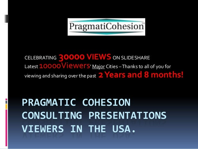CELEBRATING  30000 VIEWS ON SLIDESHARE  10000Viewers' Major Cities – Thanks to all of you for viewing and sharing over the...