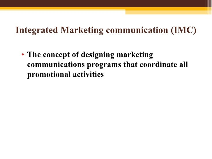 integrated marketing communication imc Integrated marketing communications is an approach to planning communications that gives your small business the potential to get better results from your campaigns.