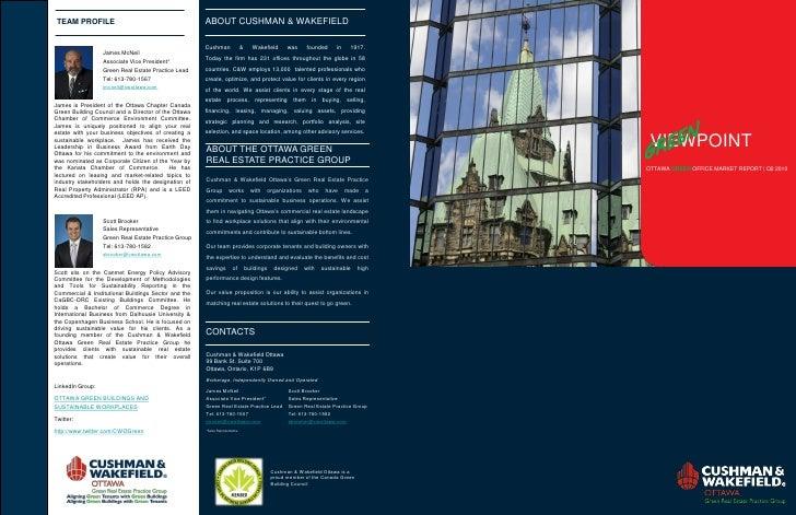 VIEWPOINT OTTAWA GREEN OFFICE MARKET REPORT   Q2 2010