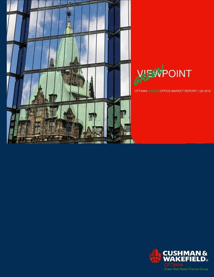 VIEWPOINT OTTAWA GREEN OFFICE MARKET REPORT   Q3 2010