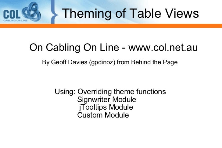 Advanced Drupal Views: Theming your View
