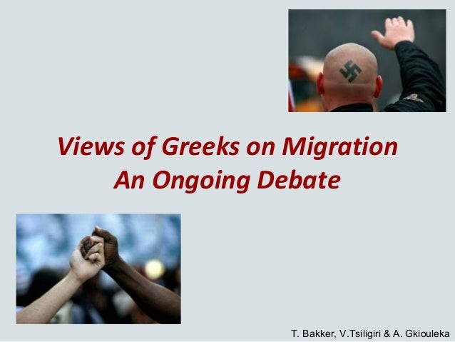 Views of Greeks on Migration An Ongoing Debate