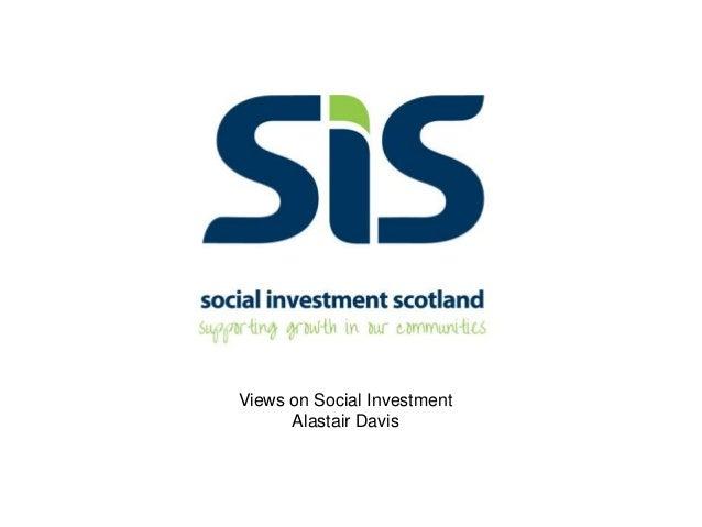 Views on Social InvestmentAlastair Davis