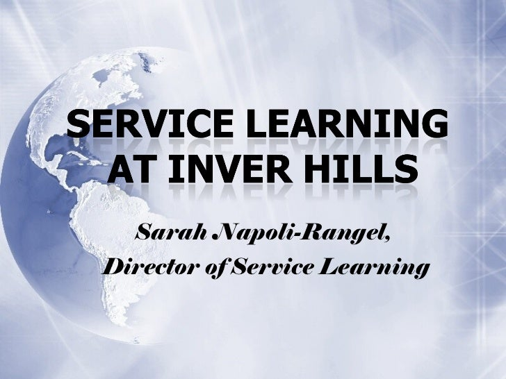 Sarah Napoli-Rangel,  Director of Service Learning