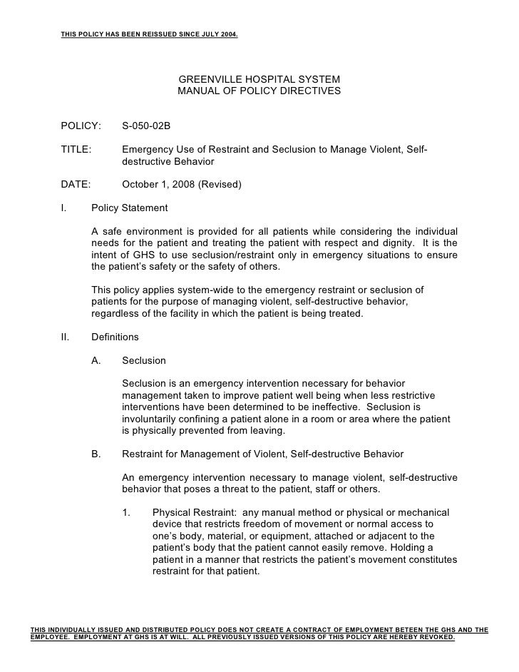 THIS POLICY HAS BEEN REISSUED SINCE JULY 2004.                                          GREENVILLE HOSPITAL SYSTEM        ...