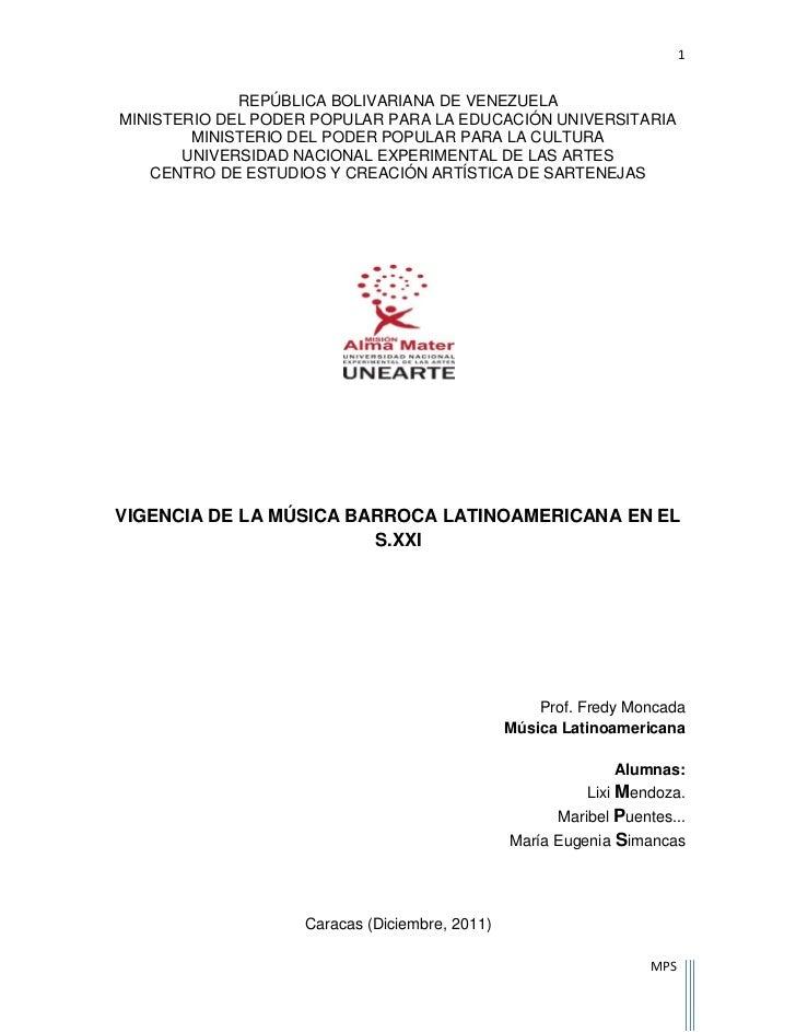 1             REPÚBLICA BOLIVARIANA DE VENEZUELAMINISTERIO DEL PODER POPULAR PARA LA EDUCACIÓN UNIVERSITARIA        MINIST...
