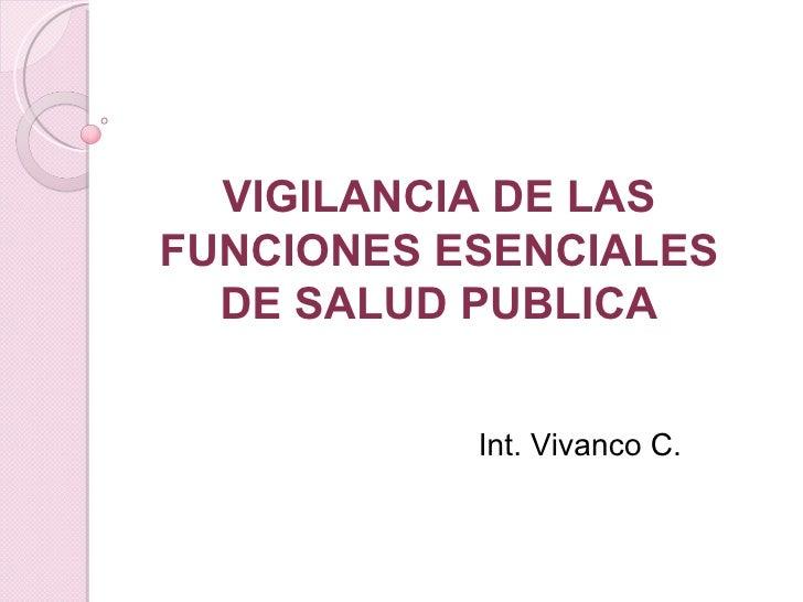 Vigilancia De Fesp