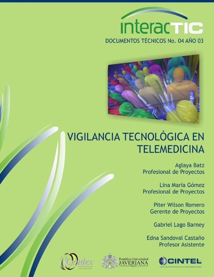 Vigilancia tecnológica en telemedicina