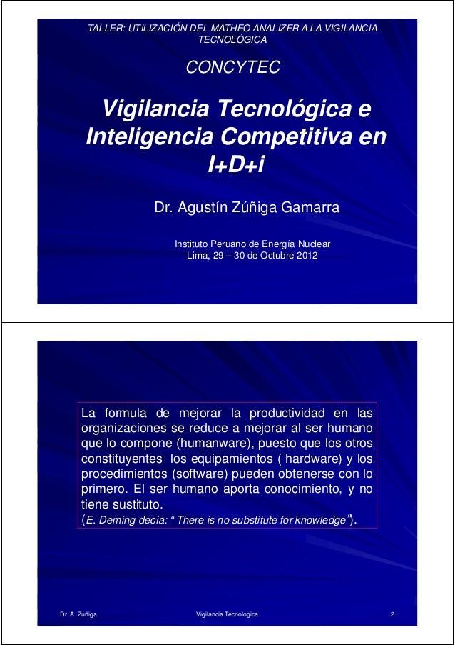 TALLER: UTILIZACIÓN DEL MATHEO ANALIZER A LA VIGILANCIA                              TECNOLÓGICA                          ...