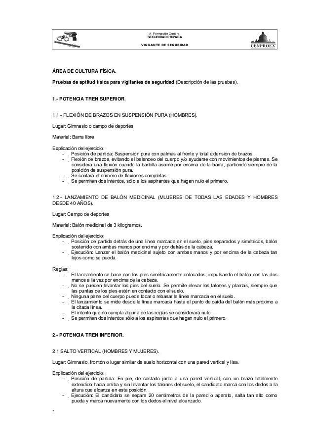 Certificado Aptitud Fisica Pruebas de Aptitud Física Para
