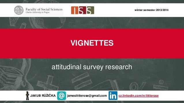 Vignettes in Survey Research