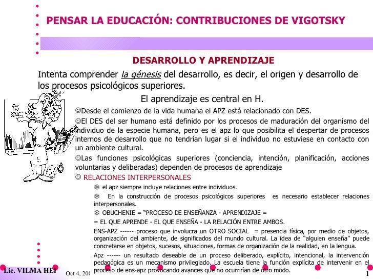 Vygotsky Contribuciones Educacion