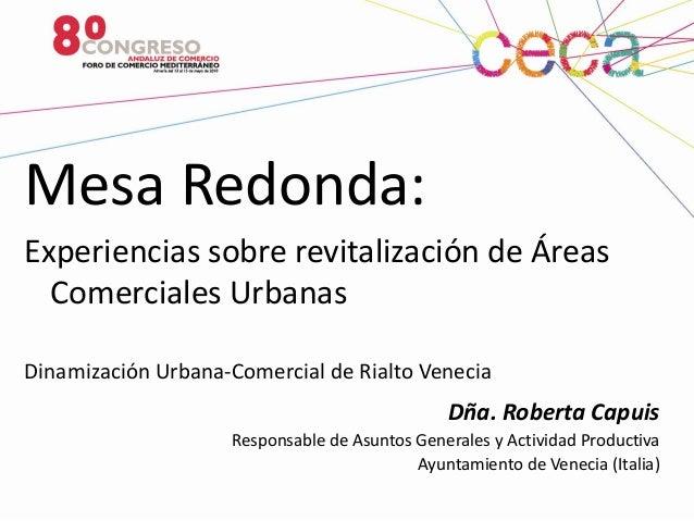 Dinamización Urbano-Comercial de Rialto-Venecia