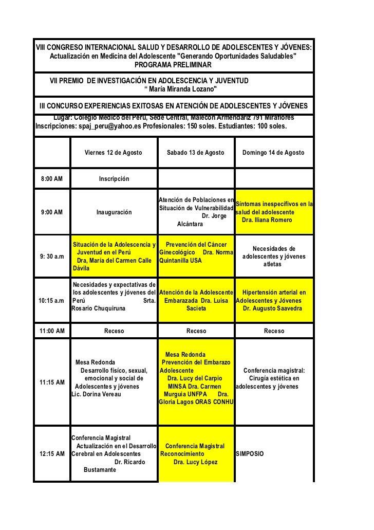 VIII Congreso Internacional SPAJ  2011 programa preliminar (1)