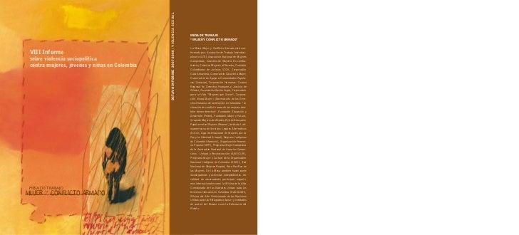 OCTAVO infOrme 2007-2008 / ViOLenCiA SeXUAL Viii informe sobre violencia sociopolítica contra mujeres, jóvenes y niñas en ...