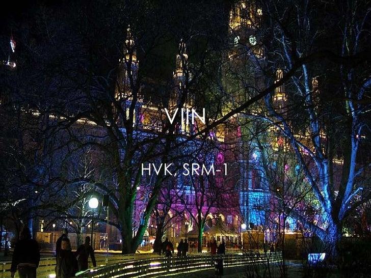 VIIN HVK, SRM-1