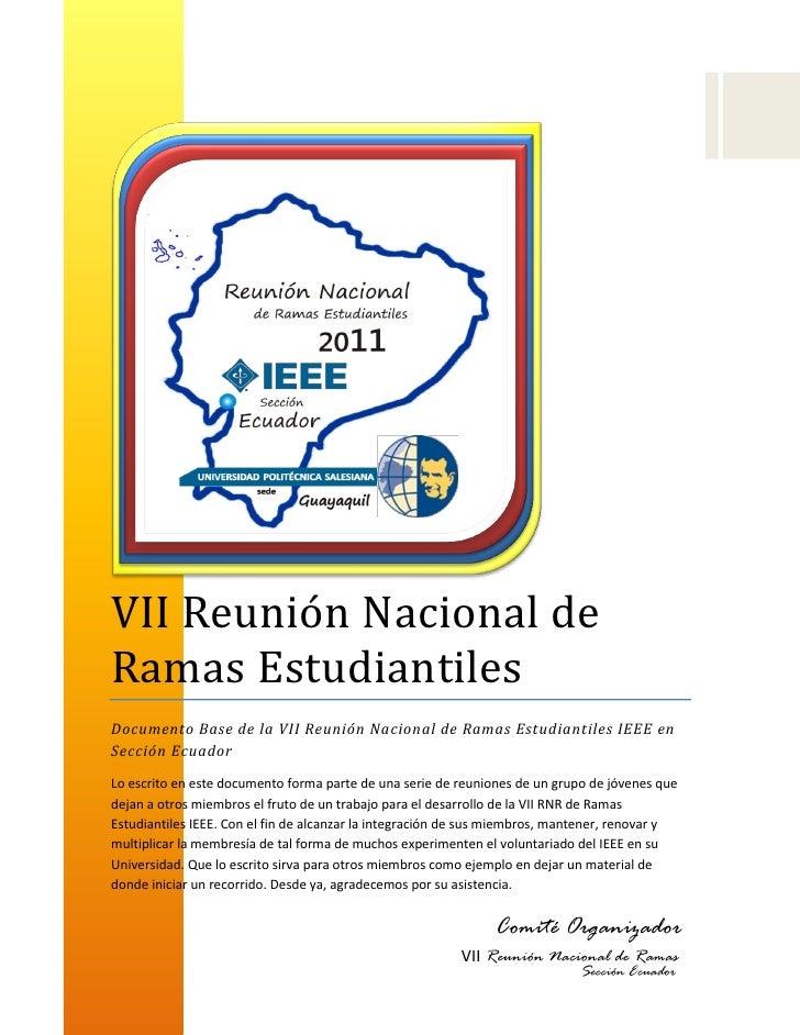 VII RNR ECUADOR 2011 docfinal