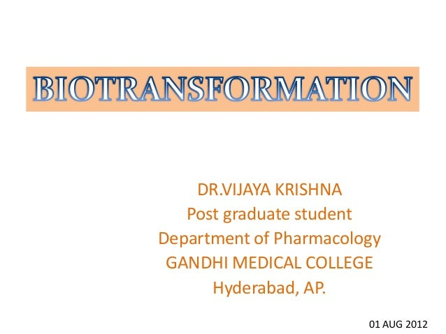 biotransformation Vijaykrishna